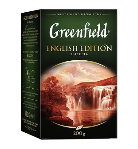 фото: Чай Greenfield English Edition (Инглиш Эдишн) черный, листовой, 200г