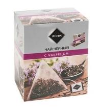 Чай Rioba С чабрецом черный, в пирамидках, 20 пакетиков