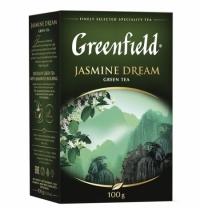 Чай Greenfield Jasmine Dream (Жасмин Дрим) зеленый, листовой, 100 г
