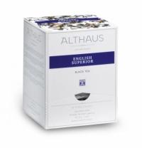 Чай Althaus English Superior черный, листовой, в пирамидках, 15 пакетиков