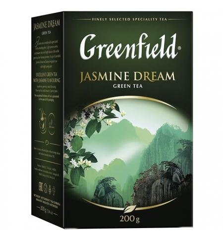 фото: Чай Greenfield Jasmine Dream (Жасмин Дрим) зеленый, листовой, 200 г
