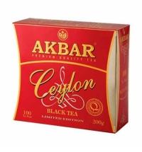 Чай Akbar Ceylon черный, 100 пакетиков