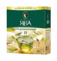 Чай Принцесса Ява Традиционный зеленый, 100 пакетиков