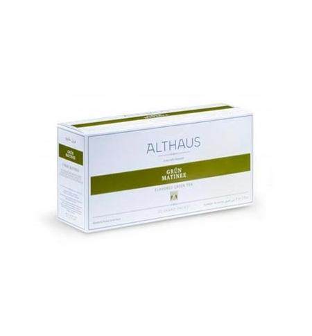 фото: Чай Althaus Grun Matinee зеленый, 20 пакетиков для чайников