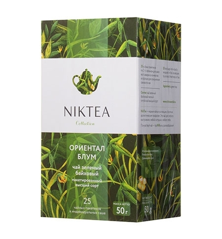 фото: Чай Niktea Oriental Bloom (Ориентал Блум) зеленый, 25 пакетиков