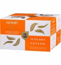 Чай Newby Ceylon (Цейлон) черный, 50 пакетиков