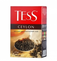 Чай Tess Ceylon (Цейлон) черный, листовой, 100 г