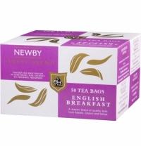 Чай Newby English Breakfast (Инглиш брекфаст) черный, 50 пакетиков