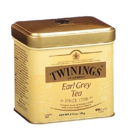 фото: Чай Twinings Earl Grey черный, листовой, 100 г, ж/б
