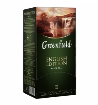 Чай Greenfield English Edition (Инглиш Эдишн) черный, 25 пакетиков
