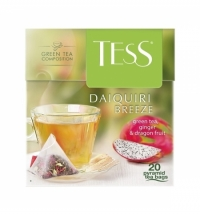 Чай Tess Daiquiri Breeze (Дайкири Бриз) зеленый, в пирамидках, 20 пакетиков