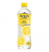 Вода Аква Минерале с соком Лимон без газа, 600мл, ПЭТ