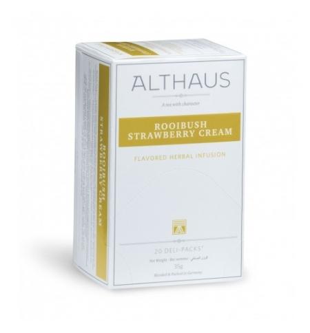 фото: Чай Althaus Rooibush Strawberry Cream ройбуш, 20 пакетиков