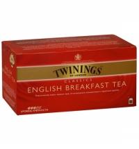 Чай Twinings English Breakfast черный, 25 пакетиков