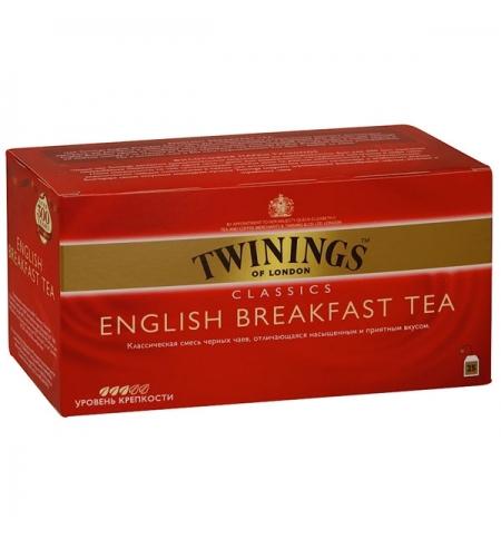 фото: Чай Twinings English Breakfast черный, 25 пакетиков