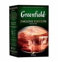Чай Greenfield English Edition (Инглиш Эдишн) черный, листовой, 100г