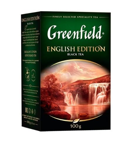 фото: Чай Greenfield English Edition (Инглиш Эдишн) черный, листовой, 100г