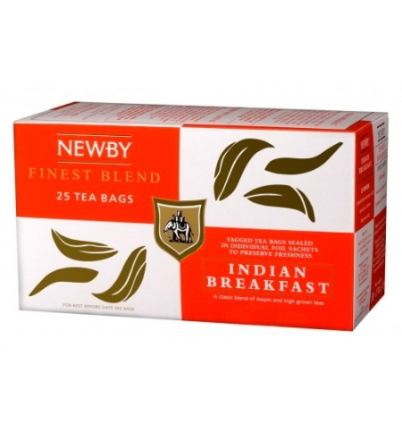 фото: Чай Newby Indian Breakfast (Индиан брэкфаст) черный, 25 пакетиков