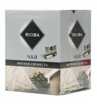 Чай Rioba Мятная свежесть черный, в пирамидках, 20 пакетиков