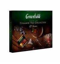 Набор чая Greenfield Pyramid Tea Collection 12 сортов в пирамидках, 60 пакетиков