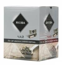 Чай Rioba Пу-Эр Философия Китая черный, в пирамидках, 20 пакетиков