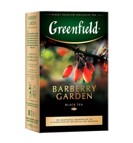 фото: Чай Greenfield Burberry Garden (Барберри Гарден) черный, листовой, 100 г