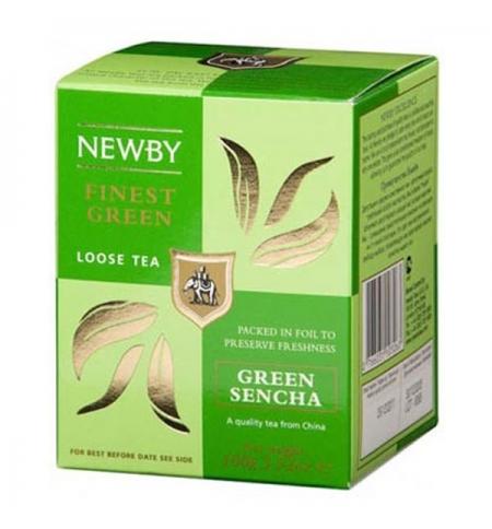 фото: Чай Newby Green Sencha (Грин сенча) зеленый, листовой, 100 г