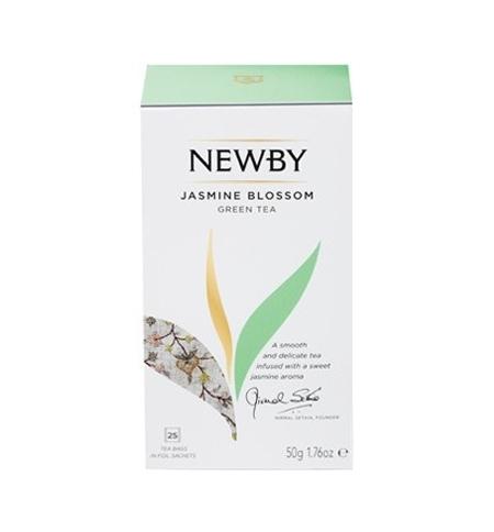 фото: Чай Newby Jasmine Blossom (Жасмин блоссом) зеленый, 25 пакетиков