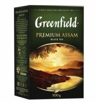 Чай Greenfield Premium Assam (Премиум Ассам) черный, листовой, 100 г