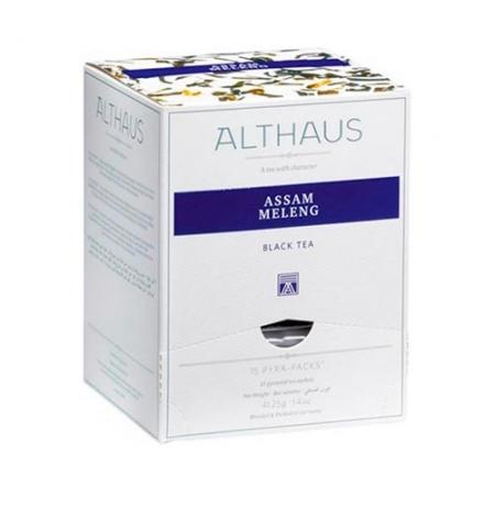 фото: Чай Althaus Assam Meleng черный, листовой, в пирамидках, 15 пакетиков