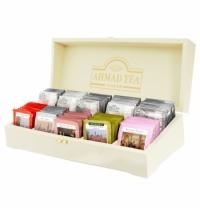 Набор чая Ahmad Contemporary 10 сортов 100 пакетиков, в деревянной шкатулке