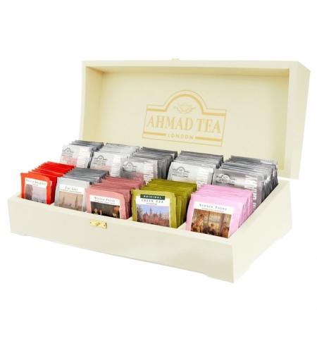 фото: Набор чая Ahmad Contemporary 10 сортов 100 пакетиков, в деревянной шкатулке
