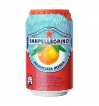 Напиток газированный Sanpellegrino красный апельсин 330мл, ж/б