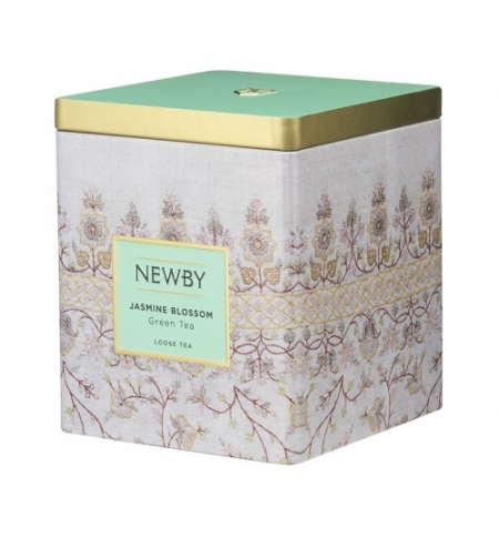 фото: Чай Newby Classic Caddy Collection Jasmine Blossom (Жасмин блоссом) зеленый, листовой, 125 г, ж/б
