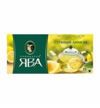 Чай Принцесса Ява Сочный Лимон зеленый, 25 пакетиков