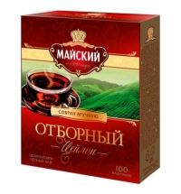 Чай Майский Отборный черный, 100 пакетиков