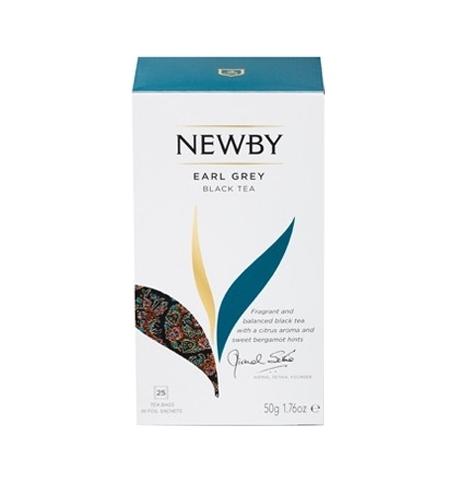 фото: Чай Newby Earl Grey (Эрл Грей) черный, 25 пакетиков