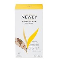 Чай Newby Green Lemon (Грин лемон) зеленый, 25 пакетиков