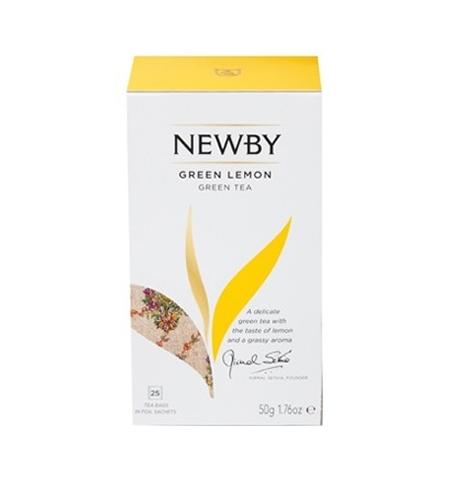 фото: Чай Newby Green Lemon (Грин лемон) зеленый, 25 пакетиков