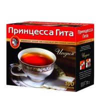 Чай Принцесса Гита Индия черный, 100 пакетиков без ярлычка