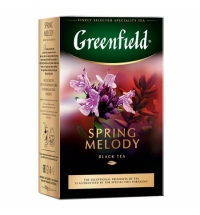 Чай Greenfield Spring Melody (Спринг Мелоди) черный, листовой, 100 г