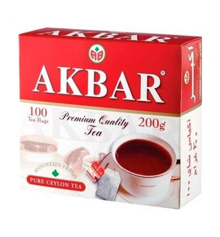 фото: Чай Akbar Красно-белый черный, 100 пакетиков