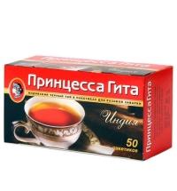 Чай Принцесса Гита Индия черный, 50 пакетиков без ярлычка