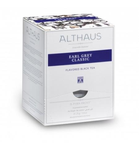 фото: Чай Althaus Earl Grey Classic черный, листовой, в пирамидках, 15 пакетиков