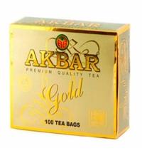 Чай Akbar Gold черный, 100 пакетиков