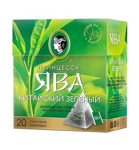 фото: Чай Принцесса Ява Китайский зеленый в пирамидках, 20 пакетиков