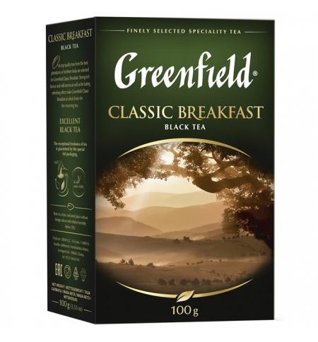 фото: Чай Greenfield Classic Breakfast (Классик Брекфаст) черный, листовой, 100 г