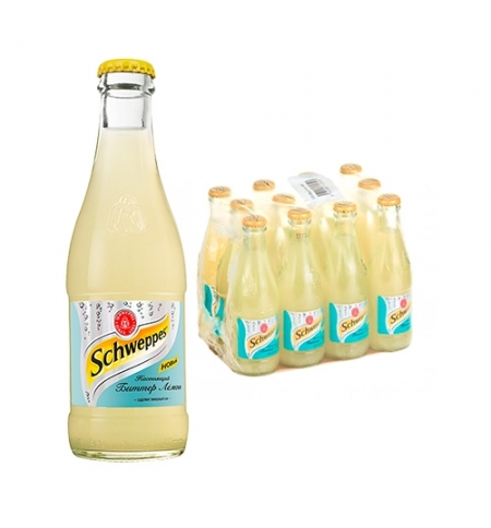 фото: Напиток газированный Schweppes Bitter Lemon 250млx12шт стекло