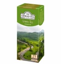 Чай Ahmad Green Tea (Зеленый Чай) зеленый, 25 пакетиков