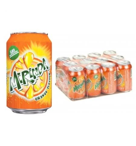 фото: Напиток газированный Mirinda Orange 330мл x 12шт ж/б